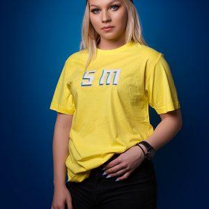 žlté tričko iniciálky SM